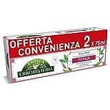 antica erboristeria, dentifricio totale antiplacca con ingredienti naturali, gusto salvia e menta, 2 x 75 ml