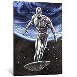 FINDEMO Fantastische vier silberne Surfer-Poster,