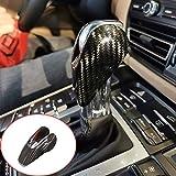 100% Real Carbon Fiber Interior Gear Shift Head Cover Knob Trim Car Accessories for Porsche Macan Panamera Cayman 718 911 Boxster 2008-2020