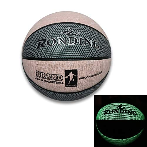 Buy Discount 3 in 1 No.7 Semi-Luminous PU Leather Basketball + Inflator + Ball Bag Set for Adults,