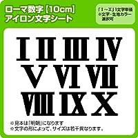ローマ数字アイロンワッペン(10cmサイズ) ※1~9まで1文字単位でお申込み頂けます 生地:刺繍調 (青)  書体 明朝