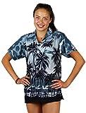 V.H.O. Funky Hawaiian Blouse Shirt Casual Men Front Pocket Button Down Very Loud Shortsleeve Unisex Beach Multi Colors