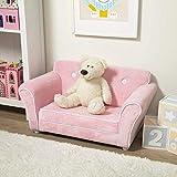 Melissa & Doug Child's Sofa - Pink Plush Children's...