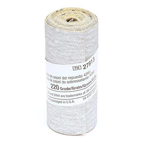 "3M 27813 Stikit Tri-M-Ite (2-1/2"" Width) Roll, 220 Grit (95"" Length)"