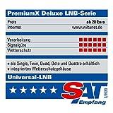 PremiumX Deluxe Octo LNB SAT für 8 Teilnehmer Digital Satelliten Signalumsetzer DVB-S2 TV HD UHD 4K - 9