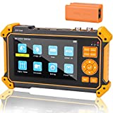 Wsdcam 5 inch TFT-LCD Screen 5-in-one Camera Tester Monitor 4K 8MP CVI TVI AHD SDI CVBS Analog Camera CCTV Tester HDMI in VGA in, Support PTZ Control/DC12V Power Output/UTP Cable Tester, 3200-Plus