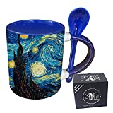 My Custom Style Tazza Blu+cucchiaino#Arte-Notte Stellata, Van Gogh#325ml