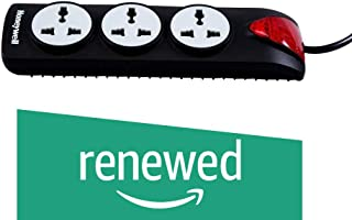 (Renewed) Honeywell 3 Out Surge Protector with Master Switch (Black)