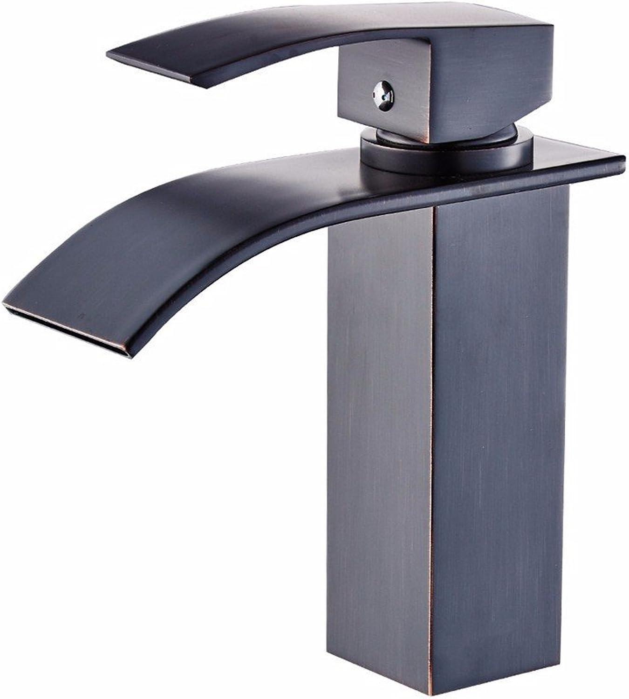Bijjaladeva Antique Bathroom Sink Vessel Faucet Basin Mixer Tap The Copper Black quartet faucet basin cold water tap washbasin basin faucet waterfall Faucet