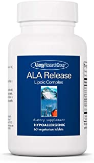 Allergy Research Group - ALA Release - Alpha-Lipoic Acid, R-Alpha-Lipoic, Biotin - 60 Tablets