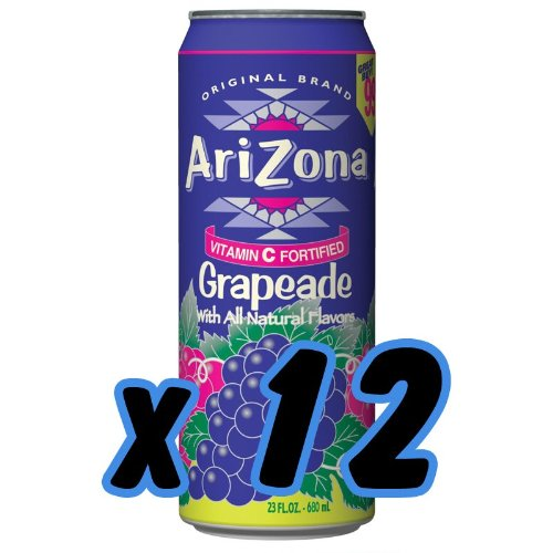 Arizona Grapeade (12x 680ml)  inkl. 3,00 Euro DPG-Pfand