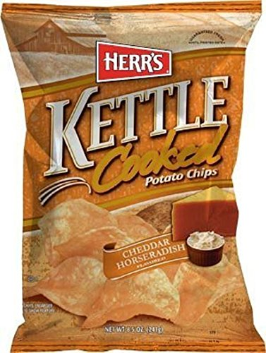 Herr's Cheddar Horseradish Kettle Chips, 7.5 Ounce ( Pack May Vary )