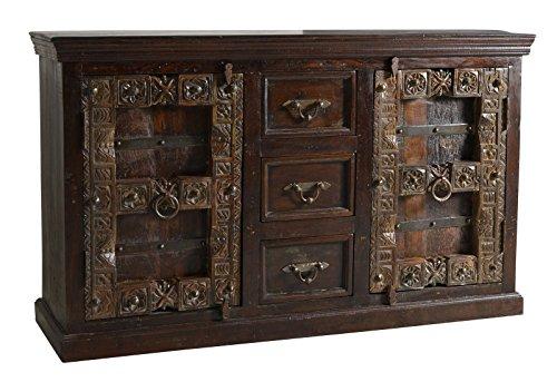SIT-Möbel Almirah 5103-30 koloniales Sideboard, 2 Türen & 3 Schubladen, recyceltes Holz, 150x45x90 cm