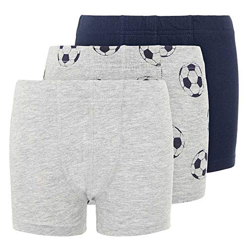 NAME IT Jungen Nkmtights 3p Mel Football Noos Boxershorts, Grey Melange, 134-140 (3er Pack)