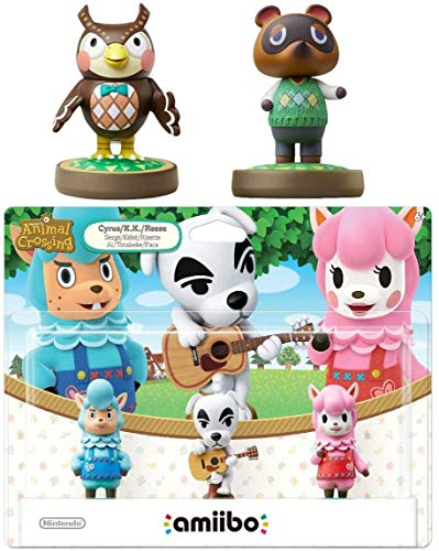 Animal Crossing Series 3-Pack Amiibo (Animal Crossing Series) - Tom Nook - Blathers Amiibo Bundle for Nintendo Switch - 3DS - Wii U (Bulk Packaging)