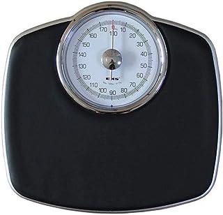 HEMFV Báscula electrónica de Alta precisión Báscula mecánica, Que Pesa la Escala Adultos sanos Lose Weight pesaje preciso, fácil de Leer Robusta Plataforma de Metal de 120 kg Capacidad Negro