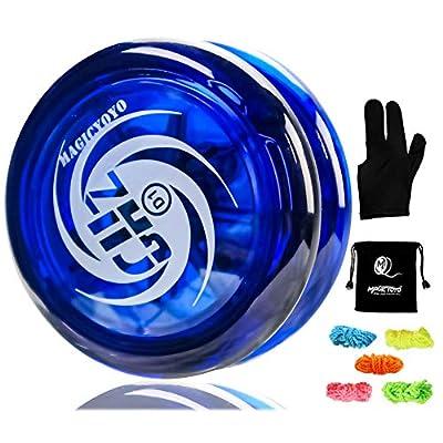 MAGICYOYO Professional Responsive Yoyo D1 GHz, Looping Yoyo Responsive Yoyos for Kids Principiante con 5 Cuerdas, Yo Yo Glove, Yo-yo Bag (Blue) de MAGICYOYO