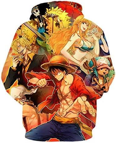 Details about  /Adults Unisex Mens Womens Anime Monkey D Luffy One Piece Manga Hoodie Sweatshirt
