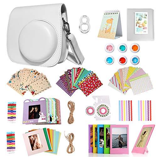 Kit de accesorios 14 en 1 para Fujifilm Instax Mini 9/8/8+ incluye funda/álbum/lente selfie/filtro/marco de película/marco de pared/pegatina para marco/pegatinas para esquinas/calendario de películas