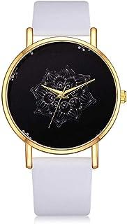 wall clock, Women's Wrist Watches Ladies Series Girls Watch Female for Women Women's Watch Exquisite Printed Pattern Alloy...