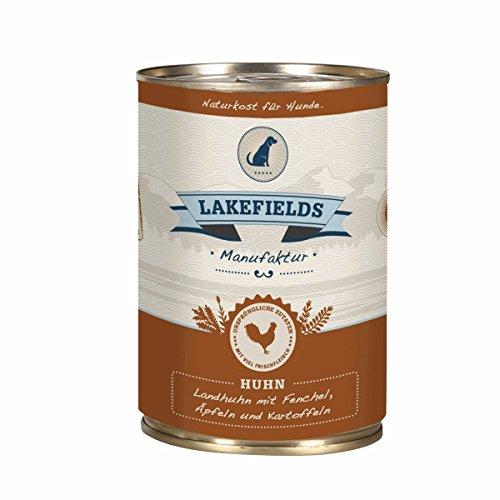 LAKEFIELDS Dosenfleisch-Menü Huhn 400g als einzige Proteinquelle (6 x 400g)