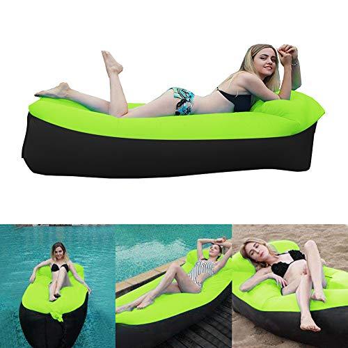 Modrad Aufblasbares Sofa Outdoor Luftsofa Wasserdicht Air Sofa Couch Strandsofa Luftsack Strand mit Tragebeutelfür Camping und Garten
