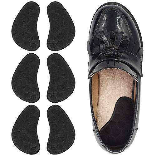 Dr. Foot's Supination & Over-Pronation Corrective Shoe Inserts, Medial & Lateral Heel Wedge Insoles for Foot Alignment, Knee Pain, Bow Legs, Osteoarthritis - 3 Pairs (Black)