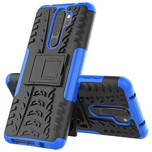 Capa Capinha Anti Impacto Para Xiaomi Redmi Note 8 Pro Tela 6.53Case Armadura Hybrid Reforçada Com Desenho De Pneu - Danet (Azul)