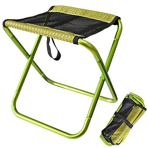 Silla plegable de camping mini, portátil, ultraligera para exteriores, Mazar, silla de playa, perfecta para camping, festivales, jardín, viajes, barbacoas, verde, L