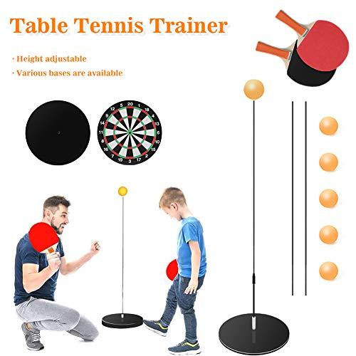 PAKASEPT Tischtennistrainer Set Mit Elastischem Schaft Tischtennisschläger Set Dekompression Sport Tischtennis Set Für Den Innen- Oder Außenbereich