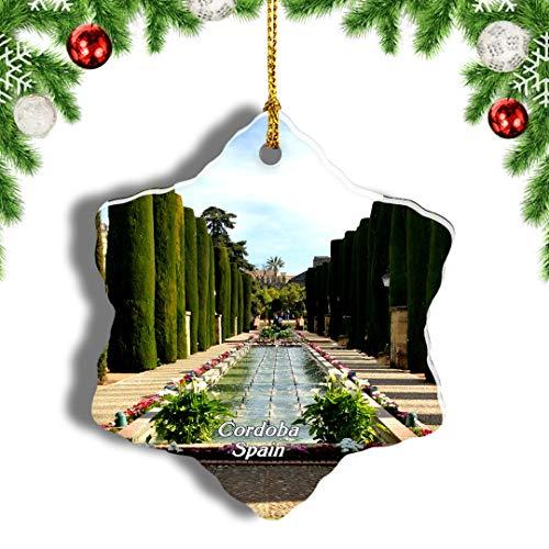Weekino España Palacio Real de Córdoba Decoración de Navidad Árbol