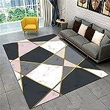 Alfombras De Habitacion Pequeñas Alfombras Grandes El Dormitorio Adulto Puede ser máquina Alfombra Salon Pelo Corto 80x120cm