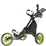 CADDYTEK Facil-plegable Carrito de golf 3 Rueda empuje cart , verde lima