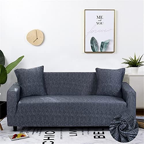 WXQY Funda de sofá Funda de sofá elástica Moderna Sala de Estar Esquina seccional Funda de protección para Silla en Forma de L Funda de sofá A22 2 plazas