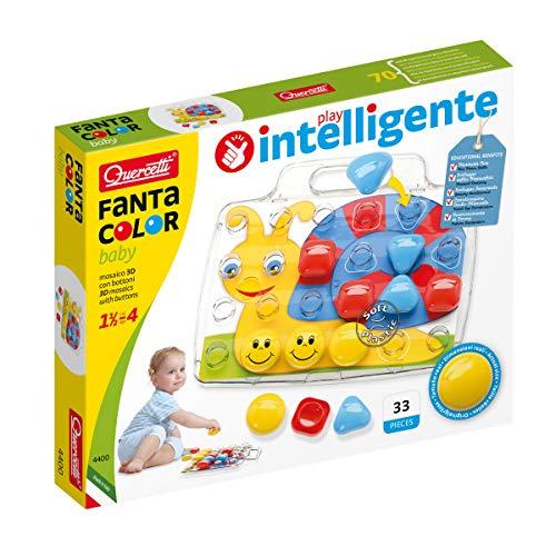 Quercetti-Quercetti-4400 Fantacolor Baby Basic-Mosaïques pour Le Premier âge, 4400