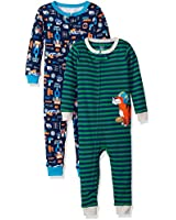Carter's Boys' 2-Pack Cotton Footless Pajamas, Tools/Tiger, 5T