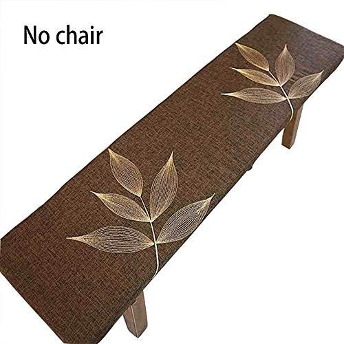 Coussin de banc 2-3 places - Antidérapant - Amovible - Lavable - Pour banc de jardin - Pour meubles d'intérieur et d'extérieur - Marron - 60 x 30 cm
