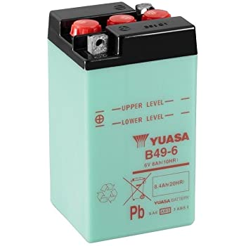 Motorrad Batterie YUASA B38-6A Ma/ße: 119x83x161 6V//13AH