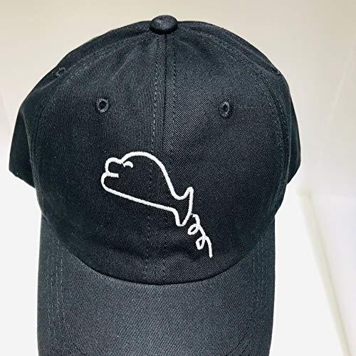 wtnhz Sombrero-Versión Coreana de la Gorra con Visera de Tendencia de la Moda, Simple y versátil, Rostro Visible, Bordado Callejero pequeño, Gorra de béisbol, Unisex