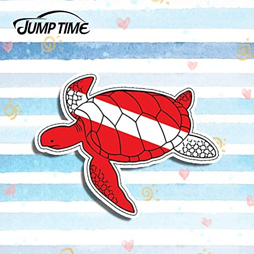 A/X Sticker de Carro 10 cm x 7 cm Pegatina de Coche para Tortuga Buzo Abajo Bandera Pegatina gráfico océano Buceo Salt Beach Life Estilo de Coche