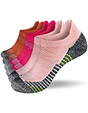 Fioboc Sneakersokken voor heren en dames, 6 paar, hardlopen, korte sportsokken, low cut, trainer, halfsokken, performance compressiesokken