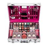 Weather Juego de 56 piezas de maquillaje todo en uno, juego de maquillaje, paletas, maletín de maquillaje, kit de iniciación para cara, ojos y labios