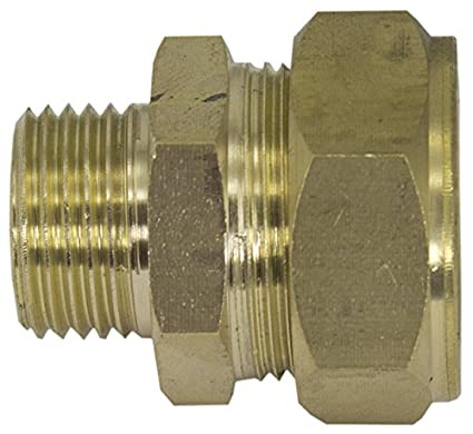 Duda Solar BRASS-Comp075xM050 3//4 Brass Compression x 1//2 Male Fitting 1.25 ID