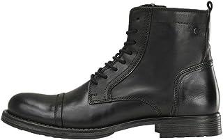 Jack & Jones Jfwrussel Leather Anthracite 19, Bottes Motardes Homme