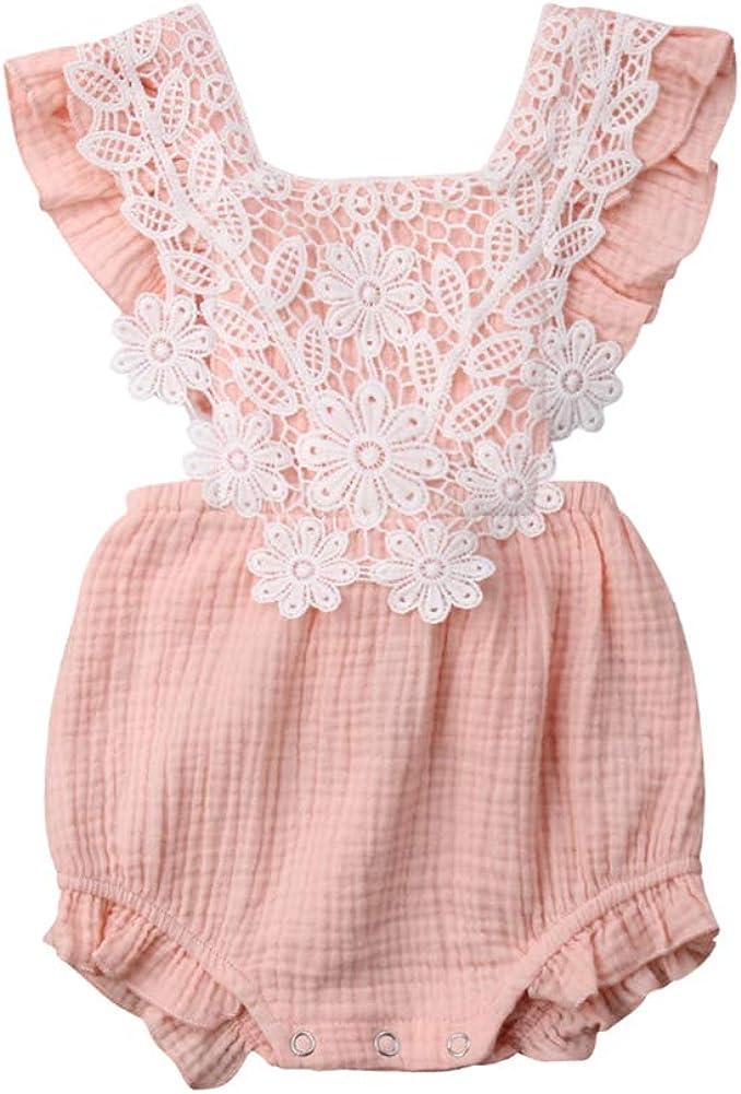 Cute Infant Newborn Ranking 35% OFF TOP12 Baby Girl Jumpsuit Romper Bodysu Lace Ruffle