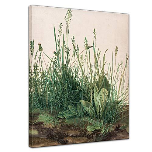 Bilderdepot24 Bild auf Leinwand Alte Meister | Albrecht Dürer - Das große Rasenstück in 30x40 cm als Wandbild | Wand-deko Dekoration Wohnung modern Bilder |180100