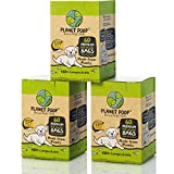Biodegradable Poop Bags, Dog Waste Bags Compostable, Unscented, Vegetable-Based & Eco-Friendly, Premium Thickness & Leak Proof, Easy Detach & Open, Highest ASTM D6400 Pet Supplies Supports Dog Rescue
