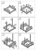 Sandkasten mit schwenkbarem Dach, Sitzbänke, Bodenplane, verschließbare Sandkiste aus Holz für Kinder, 120 x 120 x 120 cm, hellbraun - 12