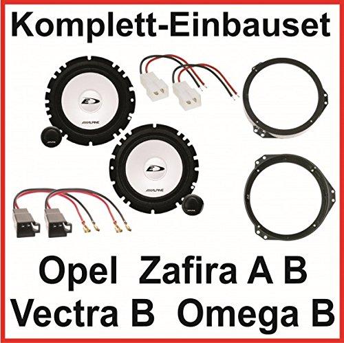 Lautsprecher Set Opel Omega B Vectra B Zafira A B Alpine SXE-1750S 2 Wege vorne