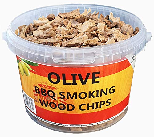 3 Litre BBQ Smoking Wood Chips (Olive Wood)